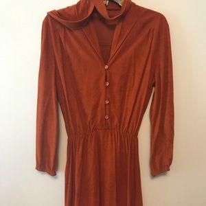 Crushed Velvet Long Sleeve Dress